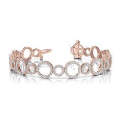 Diamantarmband 4.00 Karat Brillanten, 585/14K Rosegold