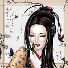 geisha imagenes arte y make up por michelle phan