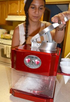 Liz DeCarlo and her kids tried out the Waring Snow Cone Maker this summer. They say it made snow cones that were just as good as festival-bought treats!
