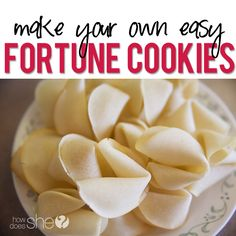 Make Your Own Fortune Cookies! They are surprisingly really easy! #fortune #cookie #recipe from howdoesshe.com