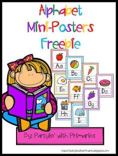 Alphabet Mini Posters Freebie