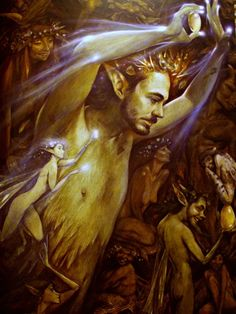 By Brian Froud So now, in our own maturity, if we have accepted what is given by the faeries, we are strong, vibrant, and can give back to the world our own gift; give ourselves to others, sharing what we do and how we do it. Now look at this painting: what does it say to you? Look and listen. Now follow the song, for we are going deeper into Faerie.