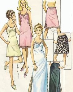 1970s Simplicity Sewing Pattern 9115 Womens Slip by CloesCloset