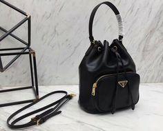9d77d077dab8 Prada Shoulder bag Navy Black Nappa leather Woman Authentic Used L2532 |  eBay