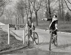 Vintage bike chic - female cyclists, Washington D.C., 1925.