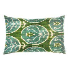 Tree Silk Velvet Pillow Green, $135, now featured on Fab.
