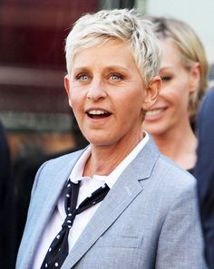 Ellen DeGeneres is a famous butch lesbian. Ellen doesn't not imitate male presentation but #appropriates masculine style. She shows the mainstream that masculinity is not exclusive to males. #identity #transgression