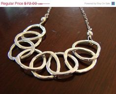 25  MOTHERS DAY SALE Modern Silver Links in sterling by metalology
