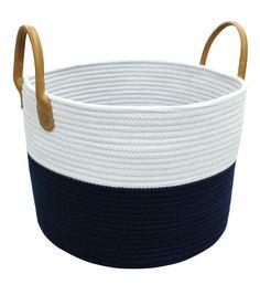 Hudson 43™ Large Round Cotton Rope Basket