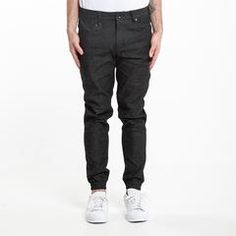 publish,INDIAN DENIM JOGGER PANT • BLACK,pantaloni