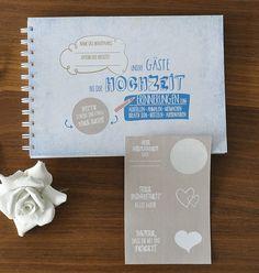 Hochzeitsgästebuch - Gästebuch Hochzeit – Hochzeits-Block - ein Designerstück von nordencreativ-design bei DaWanda