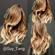 High contrast ombre with lazy curls