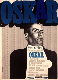 Oskar Original Polish movie posterFrench film,  director: Edouard Molinaro actors: Luis deFunes  designer: Marek Mosinski size: A1 year: 1969