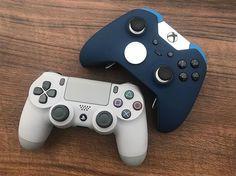 Retro PS4 controller vs Xbox One Elite? #colorware #ps4 #retrogaming #xboxone #gaming - ColorWare (@colorware_inc)