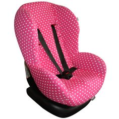 Carseat cover Maxi-Cosi XP, Priori SPS and Romer King. Pink with white dots. Can be ordered at www.ukje.nl