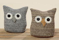 Deurstopper Uil - Crochet Owls, Crochet Rabbit, Crochet Home, Crochet Patterns, Scrap Fabric Projects, Fabric Scraps, Spring Projects, Diy Projects To Try, Doorstop Pattern
