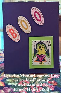 Holmade Laura: Lynette Makes Her Own Crazy Bird Stamps