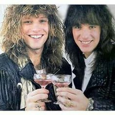 Jon Bon Jovi and Richie Sambora circa 1986