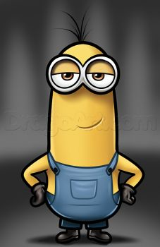 how to draw kevin from minions