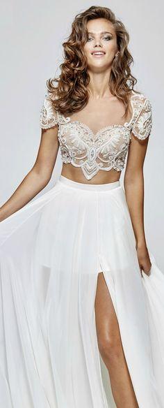 Embellished Two-Piece Gown by Tarik Ediz