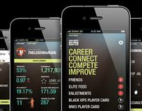 Call of Duty Elite - iPhone App by Dann Petty, via Behance