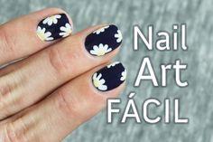 Uñas decoradas con flores paso a paso | Margaritas nail art primavera
