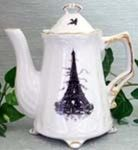 Eiffel Tower Teapot2 Cup CapacityHand-decorated in the USA