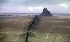 Shiprock, New Mexico-you can see it for miles.
