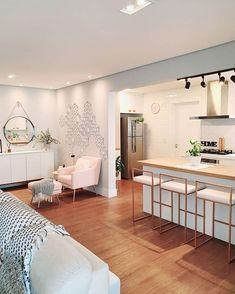 diy home decor furniture Kitchen Room Design, Home Room Design, Home Design Decor, Modern Kitchen Design, Modern House Design, Interior Design Kitchen, Kitchen Decor, Townhouse Interior, Apartment Interior
