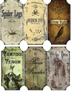 Potions labels