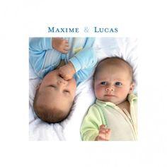 faire-part naissance Jumeaux classique by Marion Bizet pour www.fairepartnaissance.fr