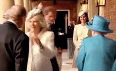 Everlasting — princeharrygifs: Prince Harry with Queen Elizabeth...