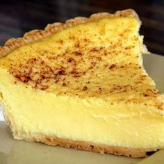 Custard pie - add 2 capfuls vanilla extract, and instead of 2 and 2/3 cups milk split it 1 cup half and half and 1 1/3 cups milk