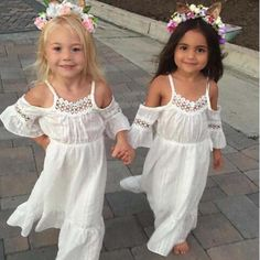 9b33fbb52de Boho Baby Crochet Hollow Out Dress. Flower Girl ...