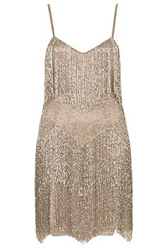 I love the BEADED FRINGE TIERED DRESS from the Kate Moss for Topshop collection at Nordstrom.