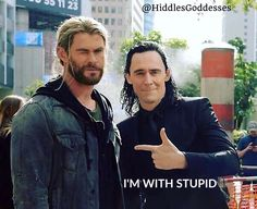 Loki & Thor   Thor Ragnarok set in Brisbane,Aus.  Credit to Hiddles Goddesses