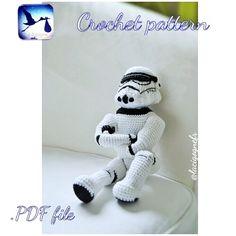 PDF CROCHET PATTERN Stormtrooper amigurumi toy . Handmade toy. Star wars. Stormtrooper. Stormtrooper helmet by LaCigogne on Etsy https://www.etsy.com/listing/274597448/pdf-crochet-pattern-stormtrooper