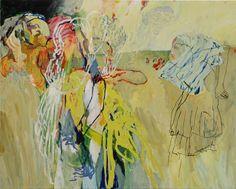 Hans Sieverding ~ (b ~ German painter Contemporary Artists, Modern Art, Abstract Expressionism, Abstract Art, Painter Artist, Minimalist Art, Mellow Yellow, Beautiful Artwork, Figure Painting