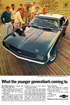 1969 Chevrolet Camaro coupe RS - SS / Rally Sport - Super Sport advertisement