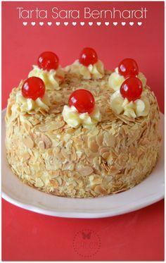 Tarta de crema de mantequilla y almendras , receta Thermomix. Mona de pascua de mantequilla
