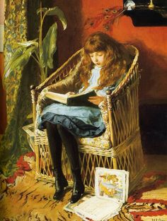 Child Reading . Artist Jessie Willcox Smith
