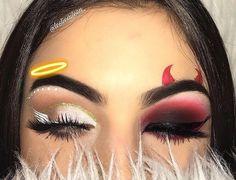 chic & sexy halloween make-up 👻 on We Heart It Cute Makeup Looks, Makeup Eye Looks, Eye Makeup Art, Scary Makeup, Crazy Eye Makeup, Beauty Makeup, Face Makeup, Halloween Party Kostüm, Cute Halloween Makeup