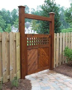 """""""Green Gate"""" using reclaimed lumber designed and built by Atlanta Decking & Fence."""