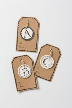 ceramic gift tags // anthropologie