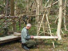 bushcraft survival long term wilderness shelter part 5 of 7 making a camp chair.wmv