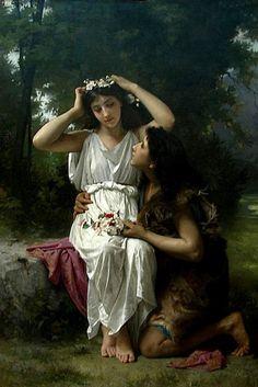 Elizabeth Jane Gardner Bouguereau (1837-1922) - Daphnis and Chloe