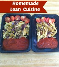 reusing containers from microwavable meals that I bought in the freezer section. They're the containers that come with the little $1 microwa...