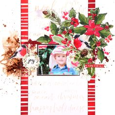 #Peace and Joy Collection single page layout by Jowilna Nolte for Kaisercraft. Such a gorgeous Christmas range to work with.