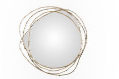 Ginger & Jagger | Vine Singular Mirror | The Vine mirror reflects the energy and momentum of the branches of the vines in the Douro region. The frame that surrounds this mirror is manufactured through brass cast in molds created from these vines, extracted from nature. It's possible to use other materials.