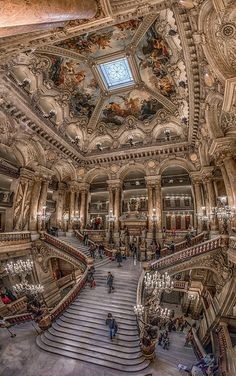 The Palais Garnier is a building of exceptional opulence. The style is monumental and considered typically Beaux-Arts, with use of axial...